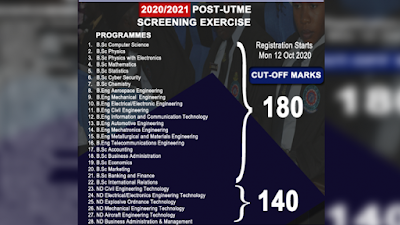 AFIT Post-UTME & DE Screening Form 2020/2021   ND & Degree