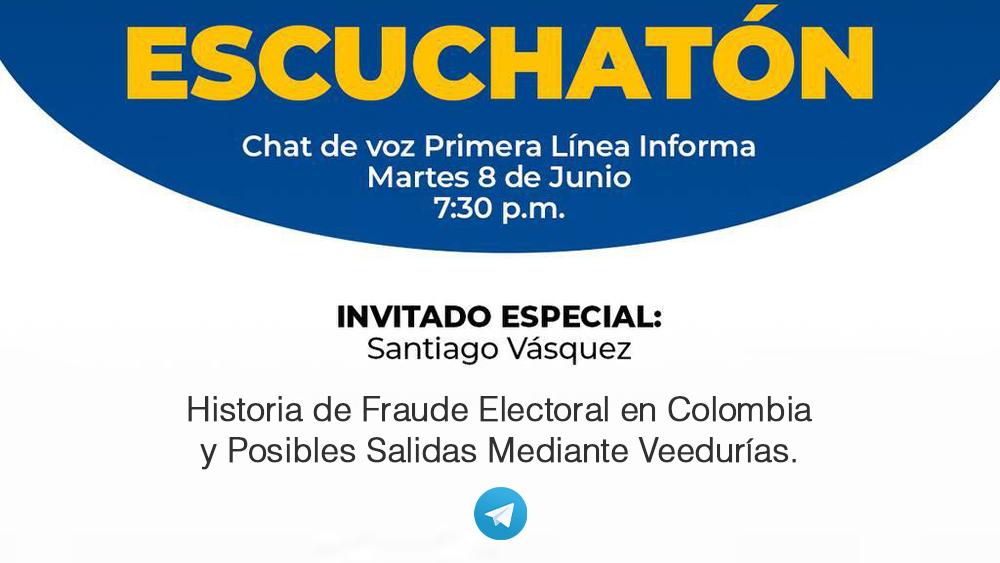 Este martes no te pierdas el Chat de Voz de Primera Linea Informa   Invitado especial:  Santiago Vásquez