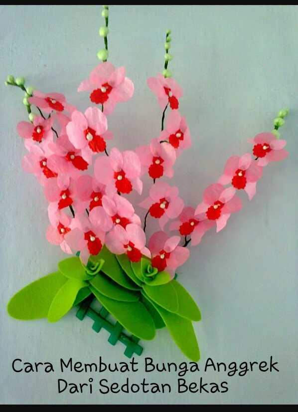 Daur Ulang Barang Bekas Cara Membuat Bunga Anggrek Dari Kresek Dengan Mudah Sebagai Kerajinan Tangan