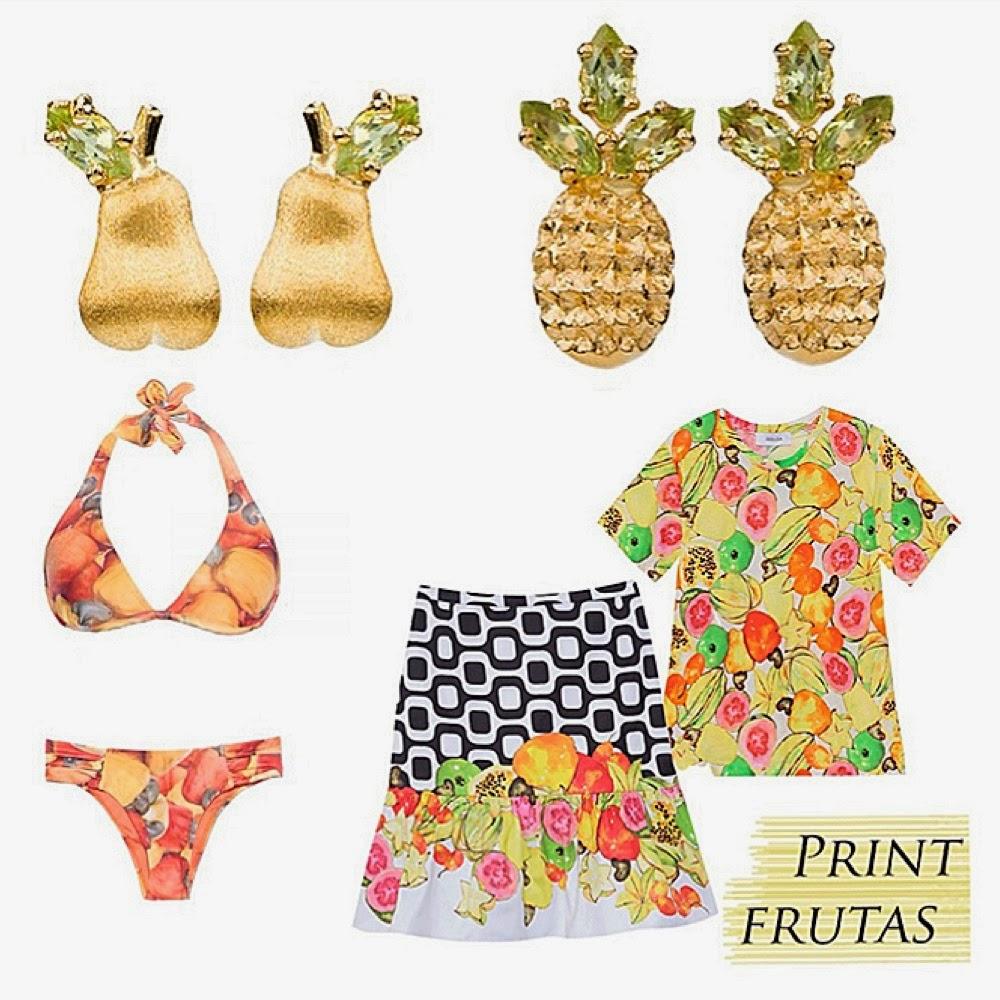 Resultado de imagem para acessórios com frutas moda