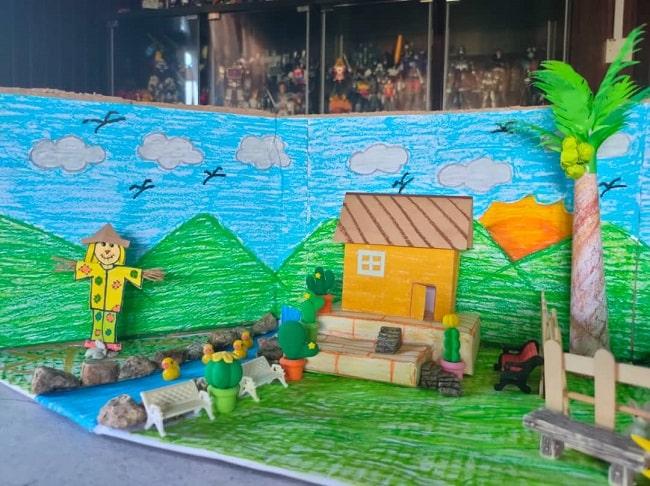 Diorama sekolah rendah
