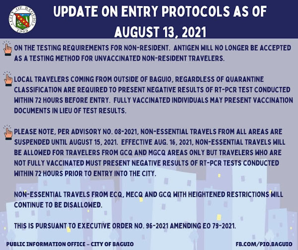Latest and New Baguio Travel Requirements for Tourists New Normal 2021 Updated