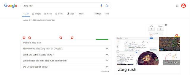 Zerg rush google trick