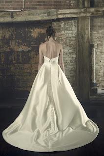 Sarah Nouri strapless Ball Gown Bridal Dress back design