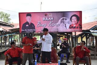 Peringati Bulan Bhakti Bung Karno, Mukhlis Basri Turun ke Masyarakat