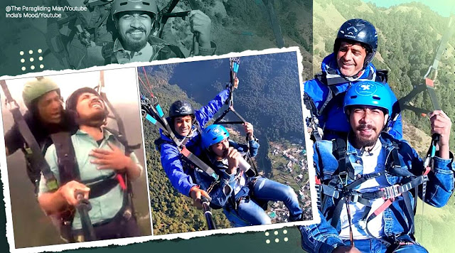 The paragliding man is back and this time he is KHUSHNASEEB