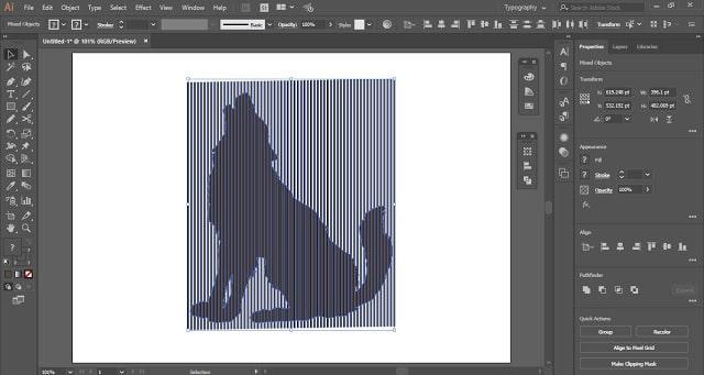 Digital Line Art Effect in Adobe Illustrator
