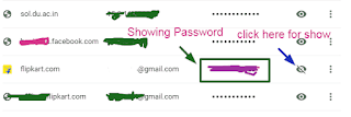 show password in chrome browser