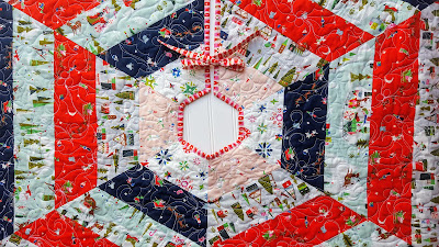 Holly Jolly Christmas Tree Skirt using Way Up North Fabric