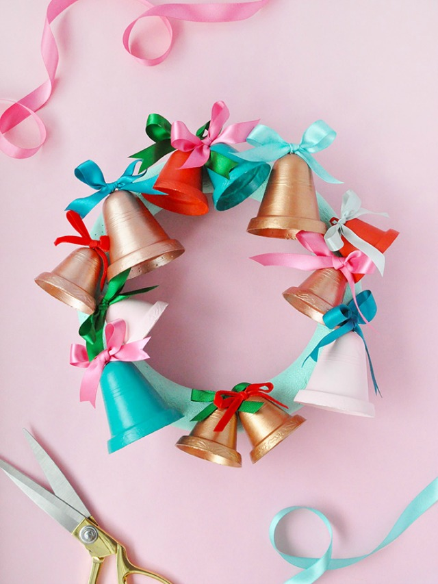 Painted Jingle Bell Wreath