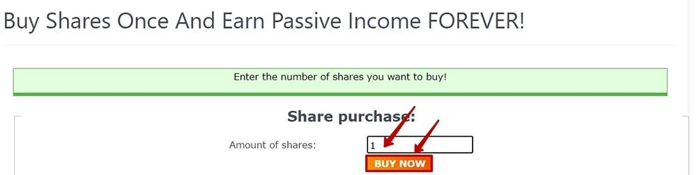 Покупка акций в Lucrative-Shares 3