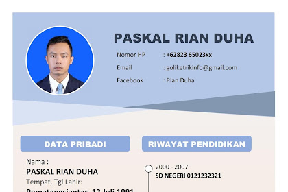 CV Lamaran Kerja Word (Docx) Download Gratis dan Mudah Di Edit