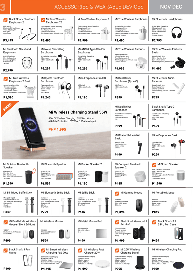 Accessories and wearables