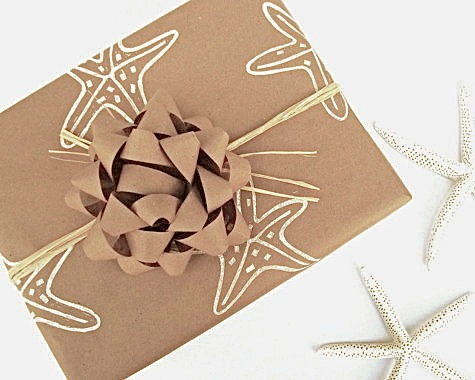 Starfish Stamp Gift Wrapping Paper