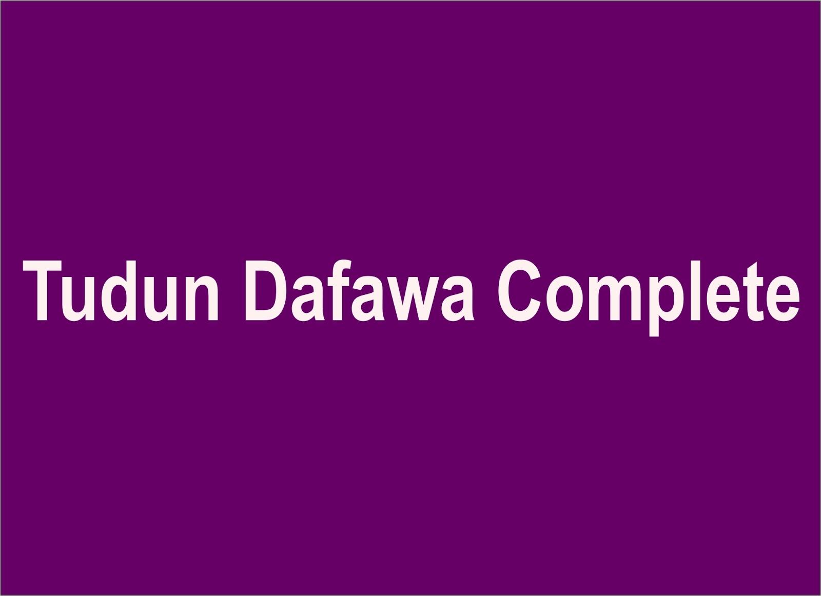 Tudun Dafawa Complete hausa novels world - Gidan Labarai
