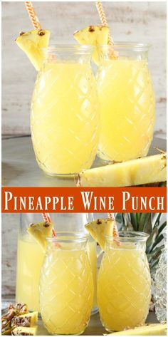 EASY PINEAPPLE WINE PUNCH