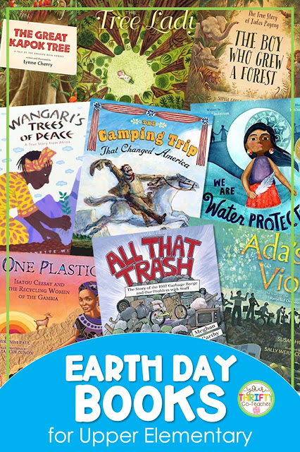 Looking for Earth Day books for upper elementary? Check out this post for several books you can share with your 4th and 5th grade students.