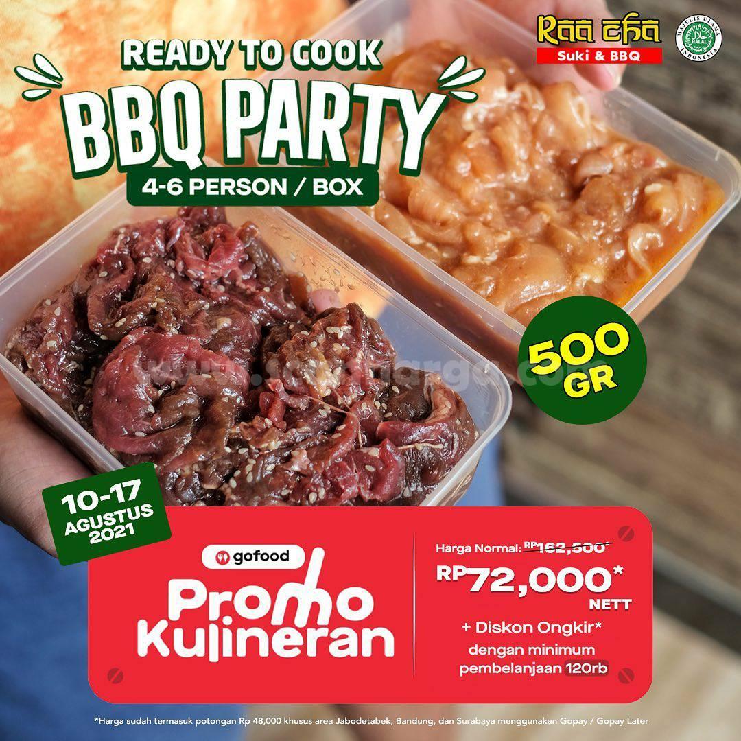 Promo Raa Cha Suki BBQ Party 500 Gr harga cuma Rp. 72Ribu via Gofood