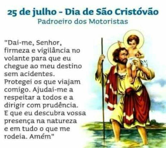 Oração a São Cristóvão.