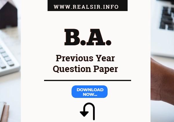 B.A. Gujarat University old paper Download