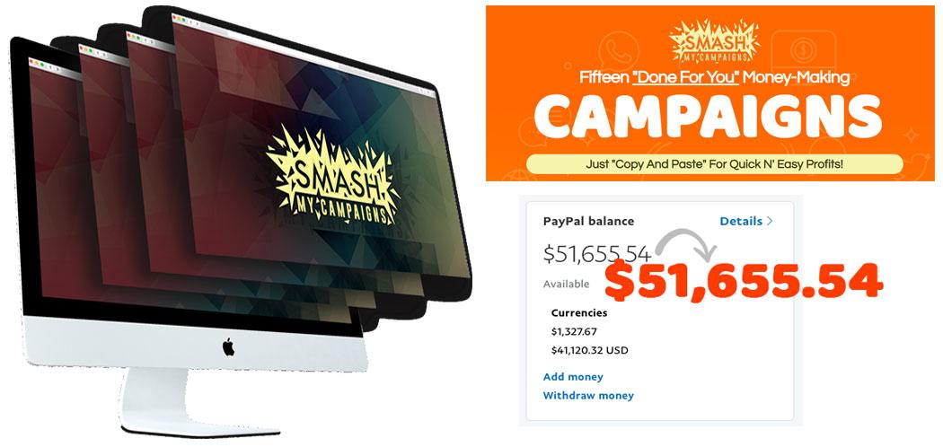 smash my campaign to make $51,655.54 per month