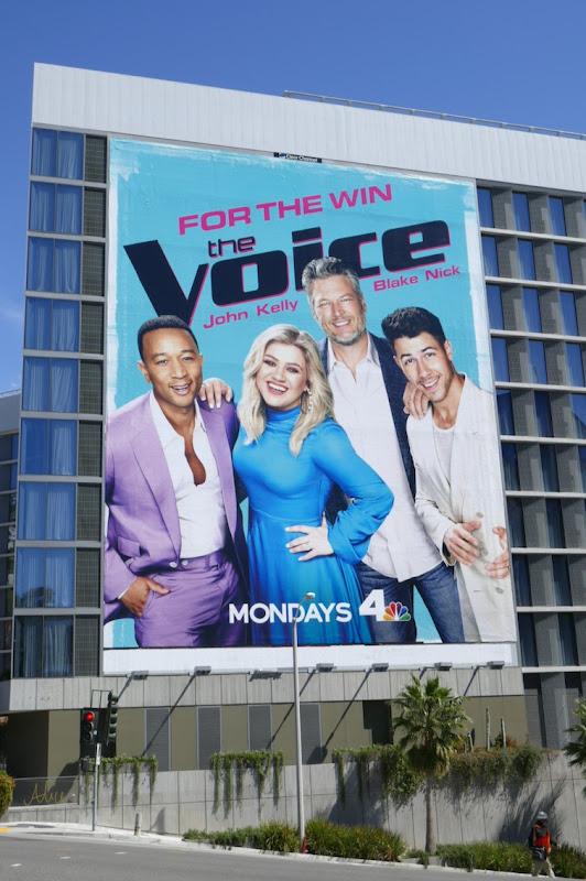 Voice season 18 giant billboard