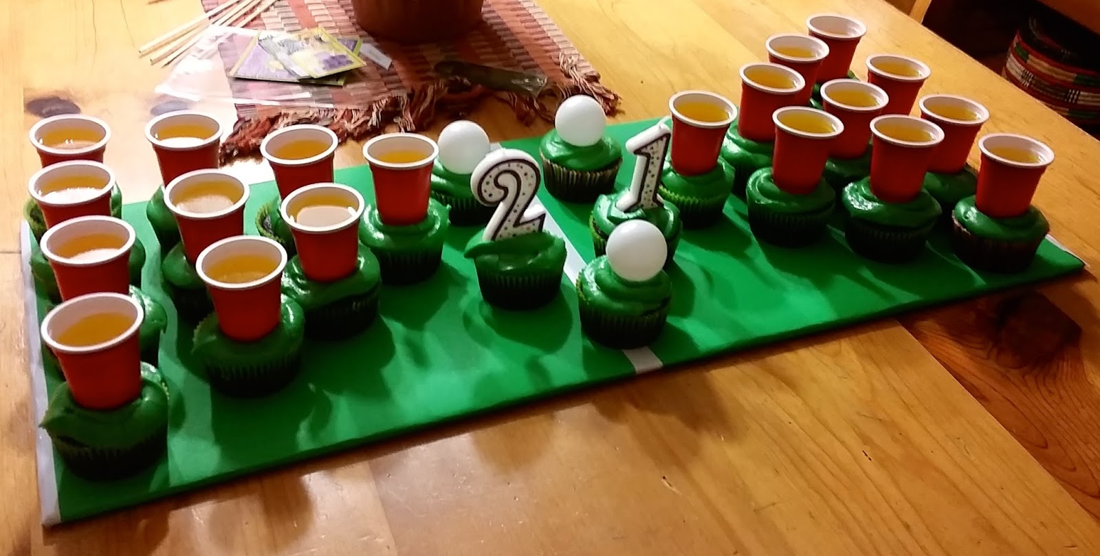Confessions Of A Pinterest Addict Beer Pong Cupcakes