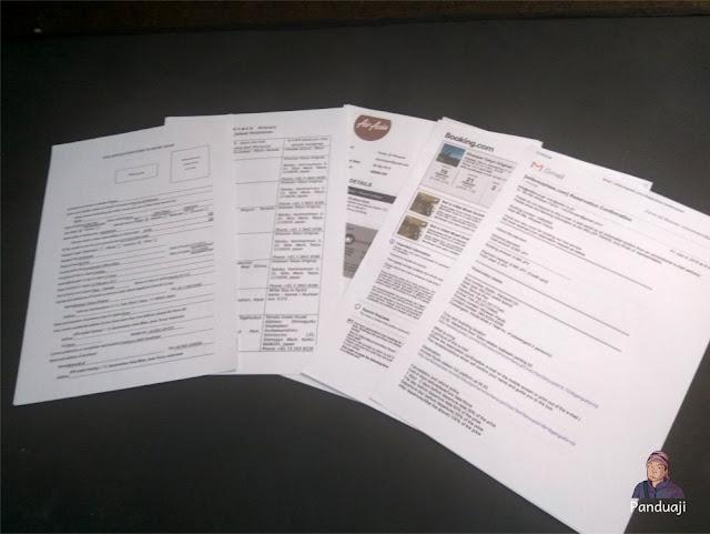 Print Out Dokumen Perjalanan