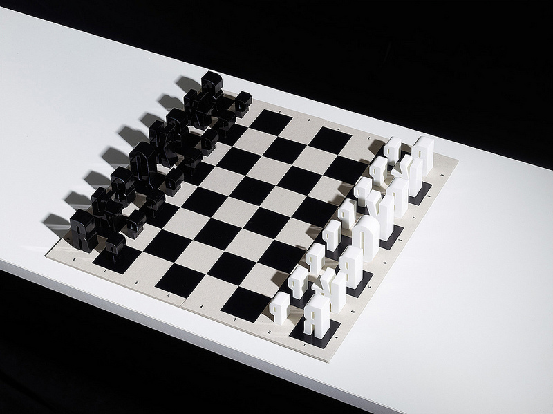 Typographic Chess Set By Hat Trick Design Is Letter