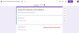 SOAL ONLINE PAS KELAS 5 SD TEMA 8 SEMESTER 2