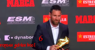 ميسى يتسلم جائزة الحذاء الذهبى الأوروبى للمرة السادسة