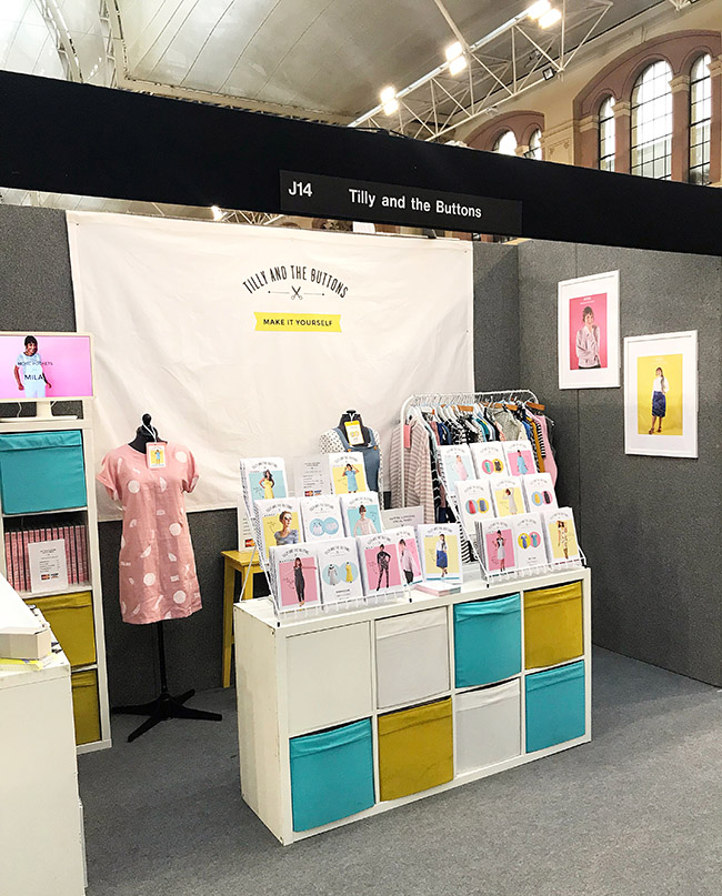 Tilly and the Buttons at the Knitting and Stitching show Ally Pally 2018