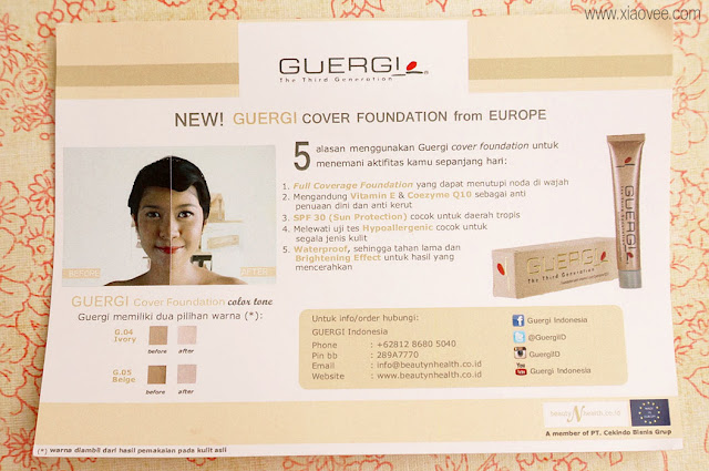 Guergi Cover Foundation, Brand Guergi, Guergi Cover Foundation Review, High Coverage Foundation