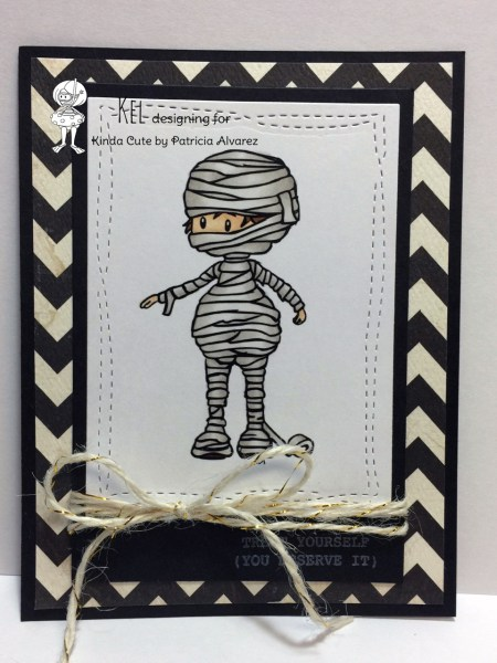 card with mummy boy digital stamp