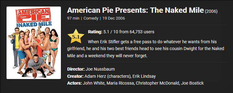 18+ American Pie Presents: The Naked Mile (2006) Download Full Movie Dual Audio {Hindi-English} 480p [300MB]    720p [600MB]    1080p [1.1GB]