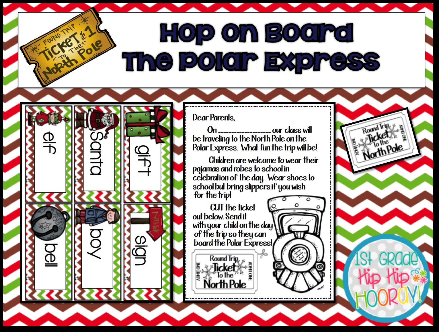 1st Grade Hip Hip Hooray Hop On Board The Polar Express
