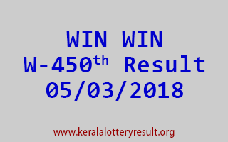 WIN WIN Lottery W 450 Results 05-03-2018