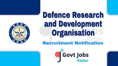 DRDO recruitment notification 2019, govt jobs in India, govt jobs for 10th pass, govt jobs for 12th pass, central govt jobs