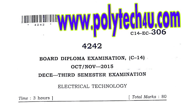 EC C-14 ELECTRICAL TECHNOLOGY PREVIOUS QP OC-NOV-2015