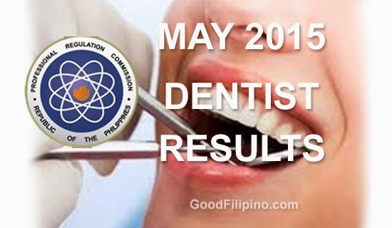 FULL LIST: Dentist Board Exam Results List of Passers (May 2015)
