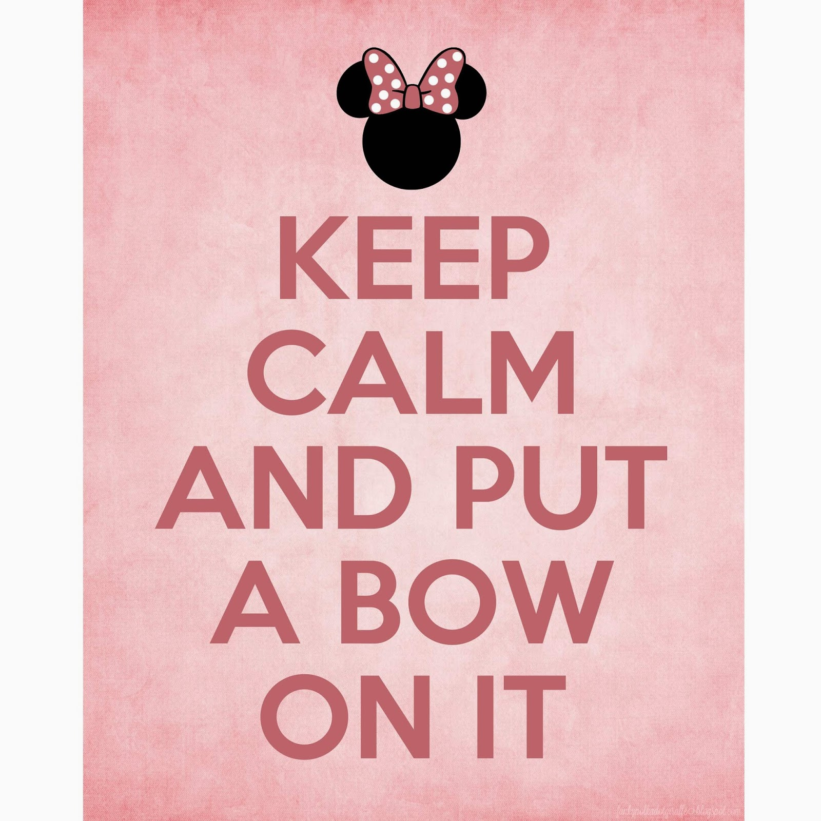 keep calm put a bow on it