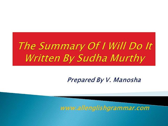 I-Will-Do-It-Written-Sudha-Murthy-Summary