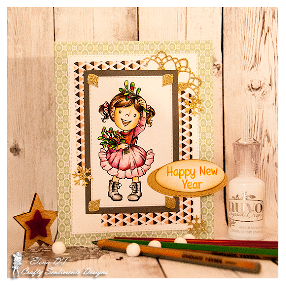 Kissing under the mistletoe for ANYTHING GOES challenge at Crafty Sentiments Design