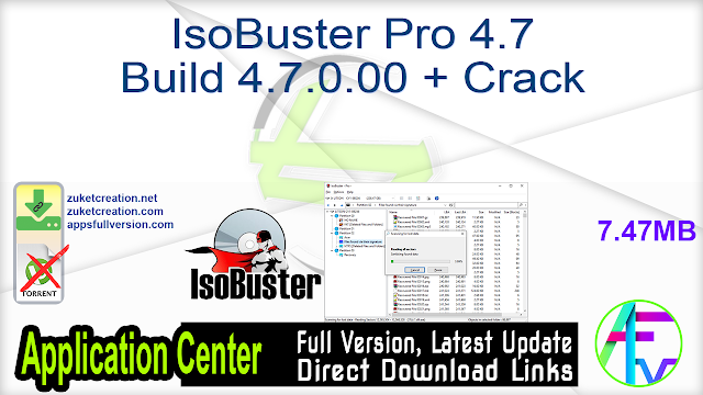 IsoBuster Pro 4.7 Build 4.7.0.00 + Crack