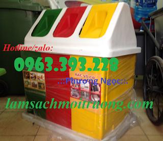 Diễn đàn rao vặt tổng hợp: Thùng rác 3 ngăn hình mái nhà, thùng rác composite 1480495651_thung-rac-nhua-composite