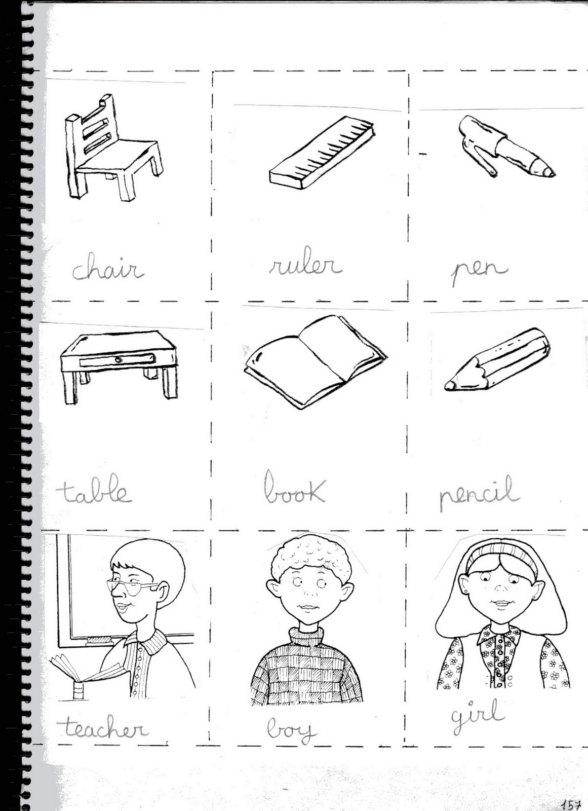 Fichas De Ingles Ficha Classroom 1 Classroom Memory Cards