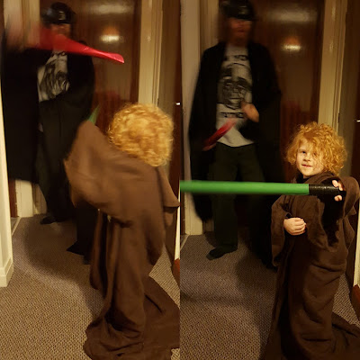 Darth Vader and Obi Wan battle take two