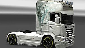 White Fox skin for Scania Streamline