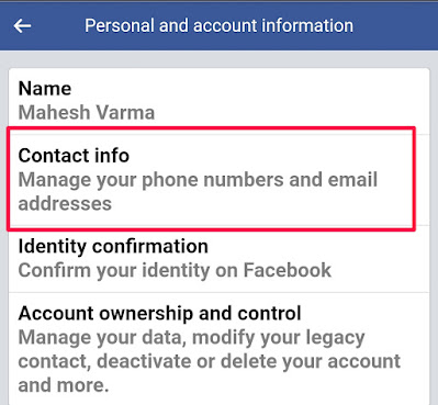 change my Facebook email or phone number