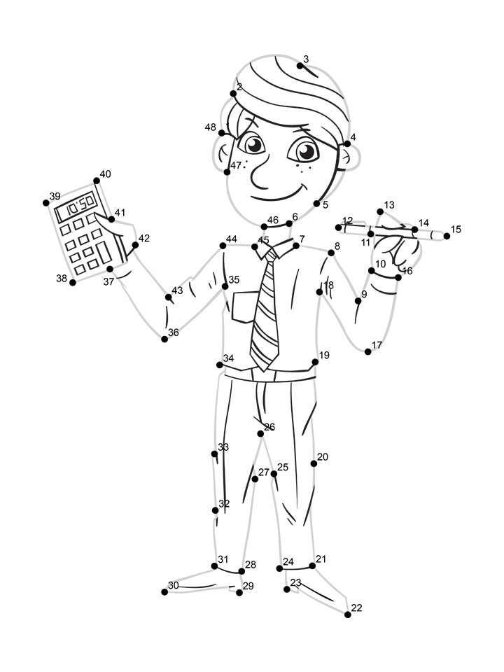 Preschool Dot Tracing Worksheet Accountant